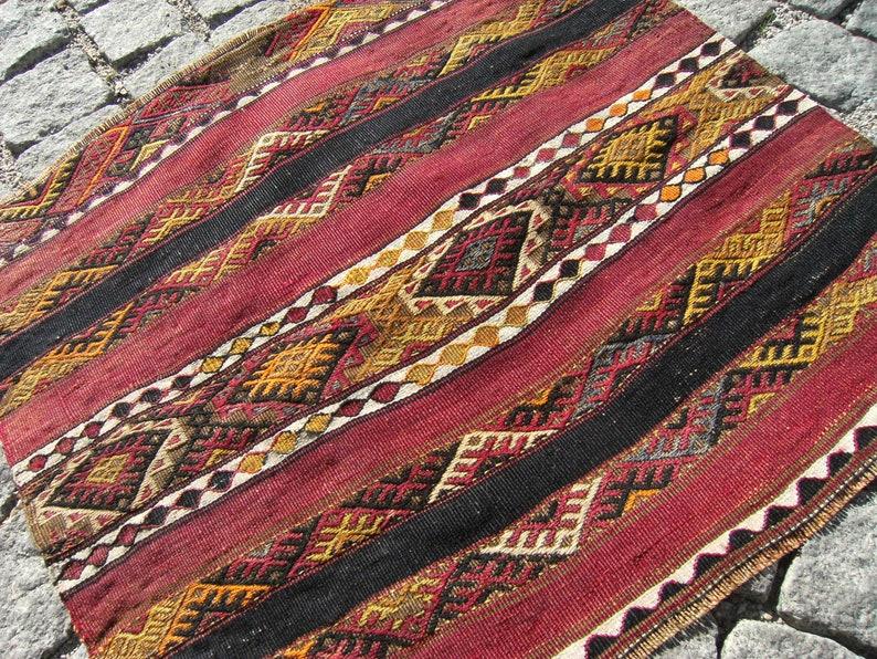Fabulous Antique Kilim Bag Face 27/'/' X 25/'/' Rare Embroidery Woven Collections Anatolian Fragment Kilim Bag Face