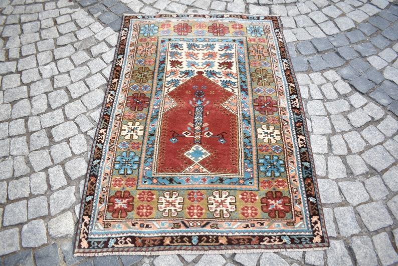 40/'/' x 56/'/' Vintage Anatolian Kula Rug Wool Pile Rug Bohemian Wool Rug Turkish Awesome Kula Rug Hand Woven Anatolian Rug,