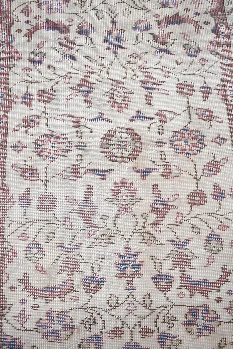 38/'/' x 64/'/' Turkish Rug Anatolian Oushak Area Rug Hand Knotted Rug Organic Wool Rug Soft Color Oushak Rug, Vintage Muted Dye Oushak Rug