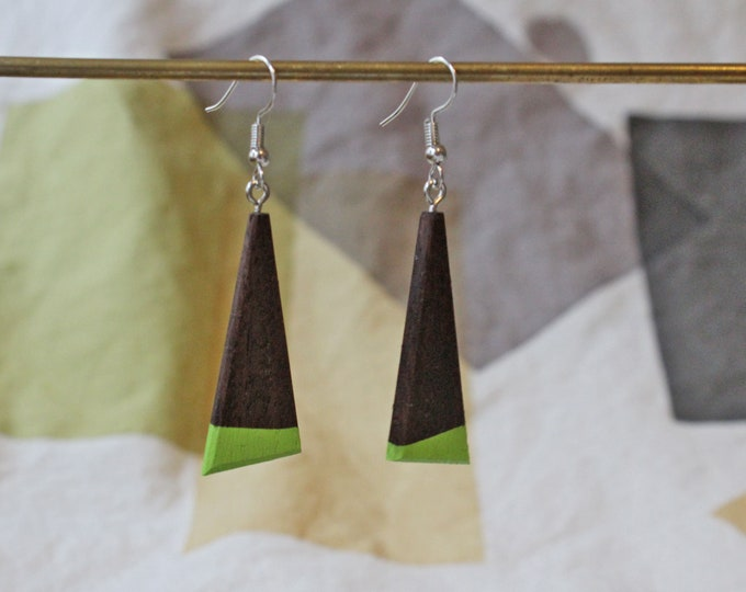 Reclaimed wood earrings