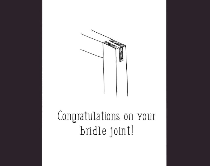 Wedding Card For Woodworkers - Funny Wedding Card