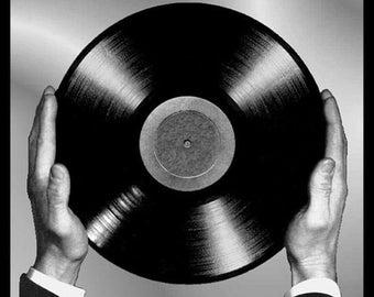 Men/'s Ladies T SHIRT cool retro VINYL RULES records decks 7 inch music 70s 80s