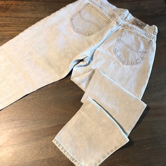 Vintage 1980s Lee Riveted Jeans Size 10P - image 5