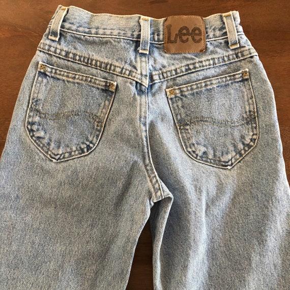 Vintage 1980s Lee Girls Jeans Size 9R - image 6