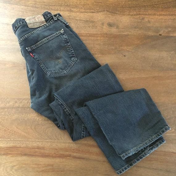 Vintage 1990s Levi's 501 Distressed Black Jeans S… - image 2