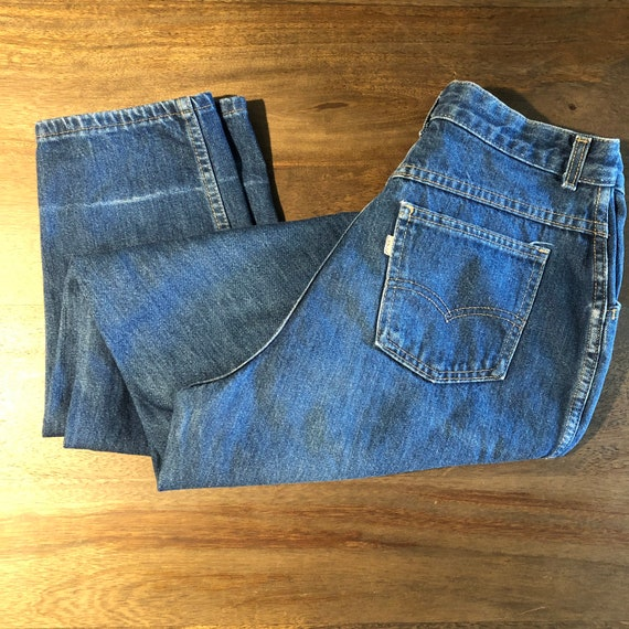 Vintage 1980s Distressed Levi's Pleated Jeans Size