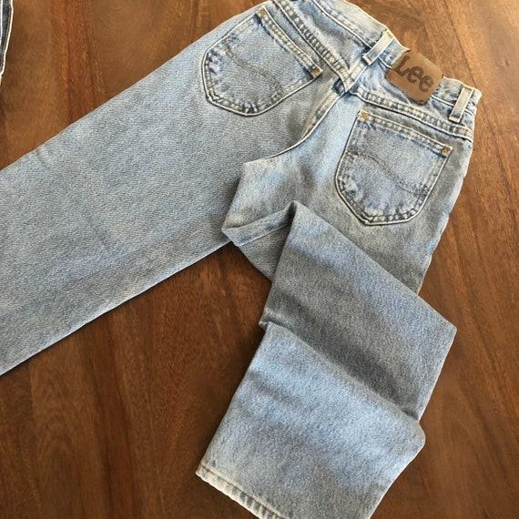 Vintage 1980s Lee Girls Jeans Size 9R - image 9