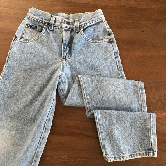 Vintage 1980s Lee Girls Jeans Size 9R - image 4
