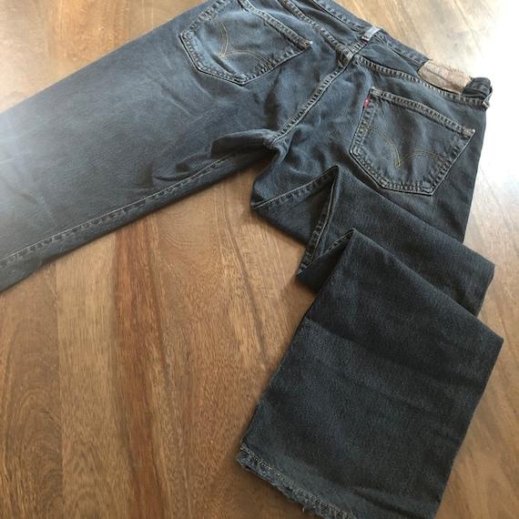 Vintage 1990s Levi's 501 Distressed Black Jeans S… - image 7