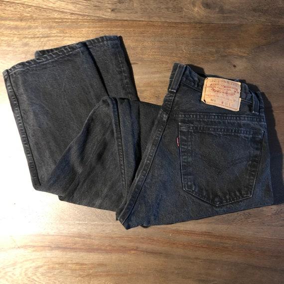 Vintage 1990s Levi's 501 Black Jeans Size 31