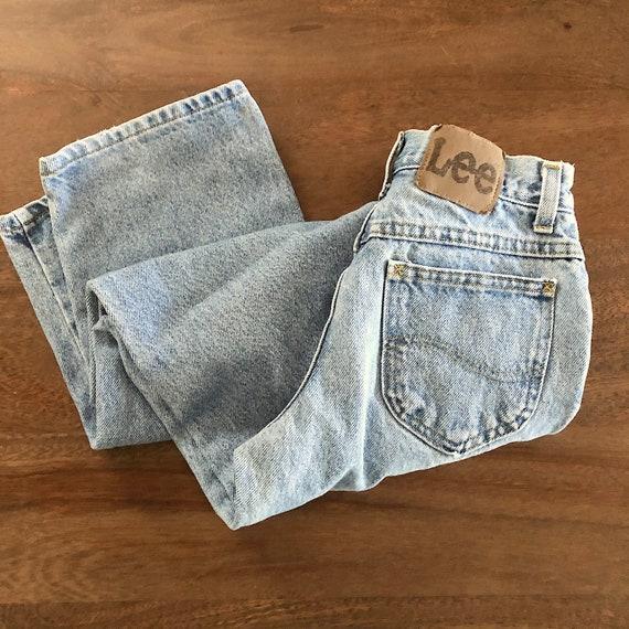 Vintage 1980s Lee Girls Jeans Size 9R - image 1