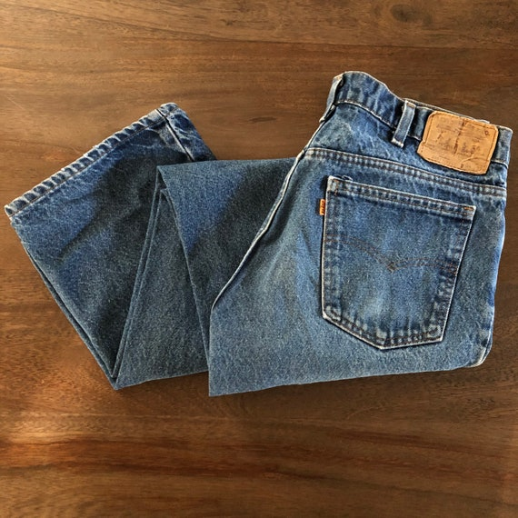 Vintage 1970s Levi's 517 Orange Tab Jeans Size 34