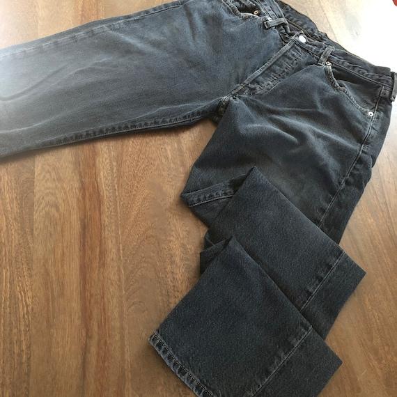 Vintage 1990s Levi's 501 Distressed Black Jeans S… - image 8