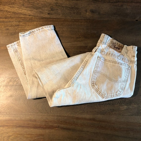 Vintage 1980s Lee Riveted Jeans Size 10P - image 1