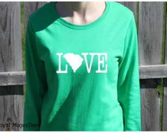 Love South Carolina Shirt, Long Sleeve South Carolina Shirt,