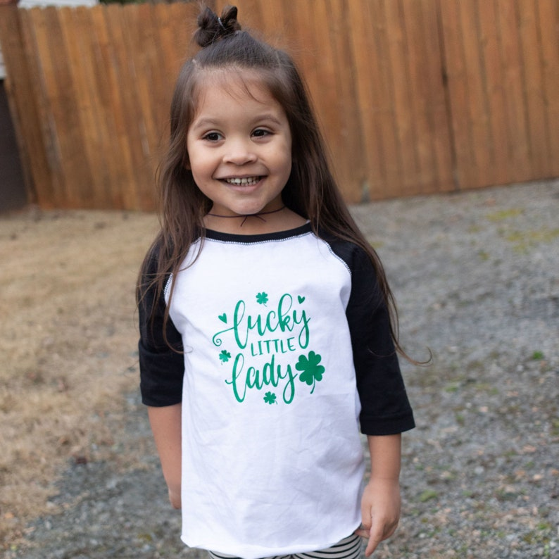 88fa3ec36cd Girls Lucky Little Lady St Patricks Day Shirt