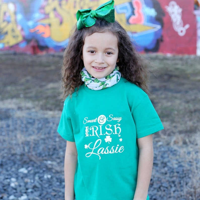 b1aa2d8a479 Smart Sassy Irish Lassie girls Saint Patricks Day Shirt