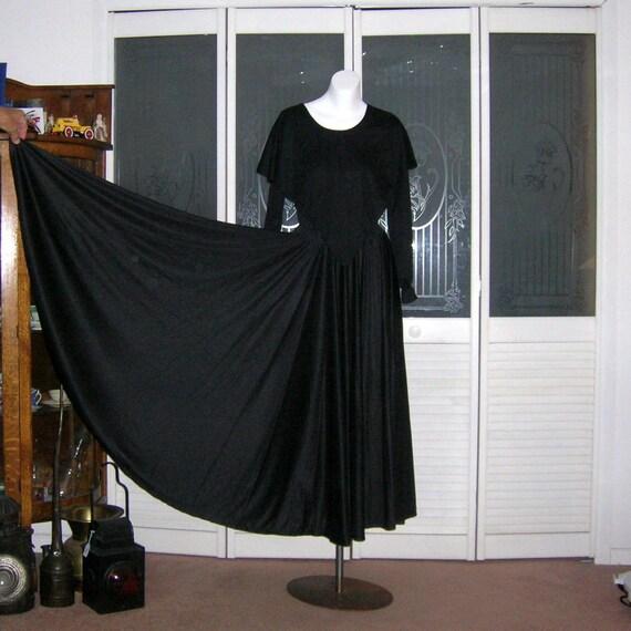 Vintage 70s Ruffled Disco Dance Dress Leotard & Fu