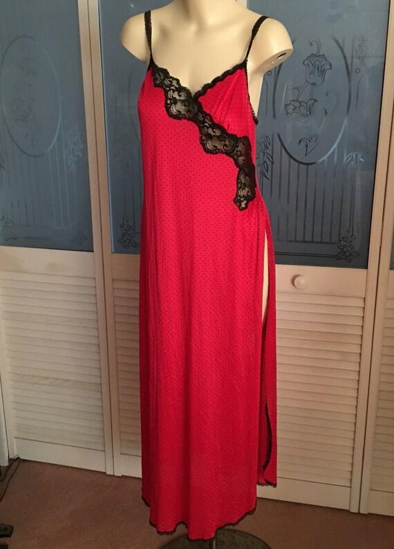Sexy Daring Vintage Vanity Fair Night Gown Robe Pe