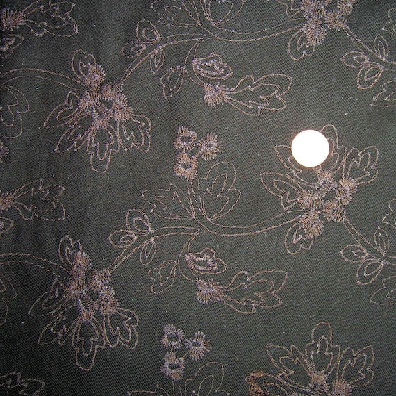 Vintage Cotton Floral Embroidered Dress Fabric Pil