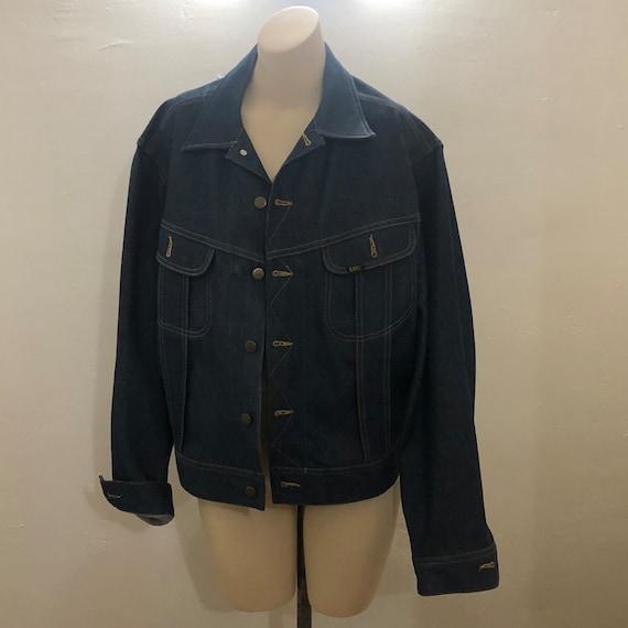 Rare NOS Vintage 60s 70s Lee Set Denim Jacket Men… - image 1