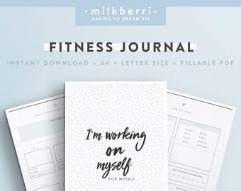 fitness journal etsy
