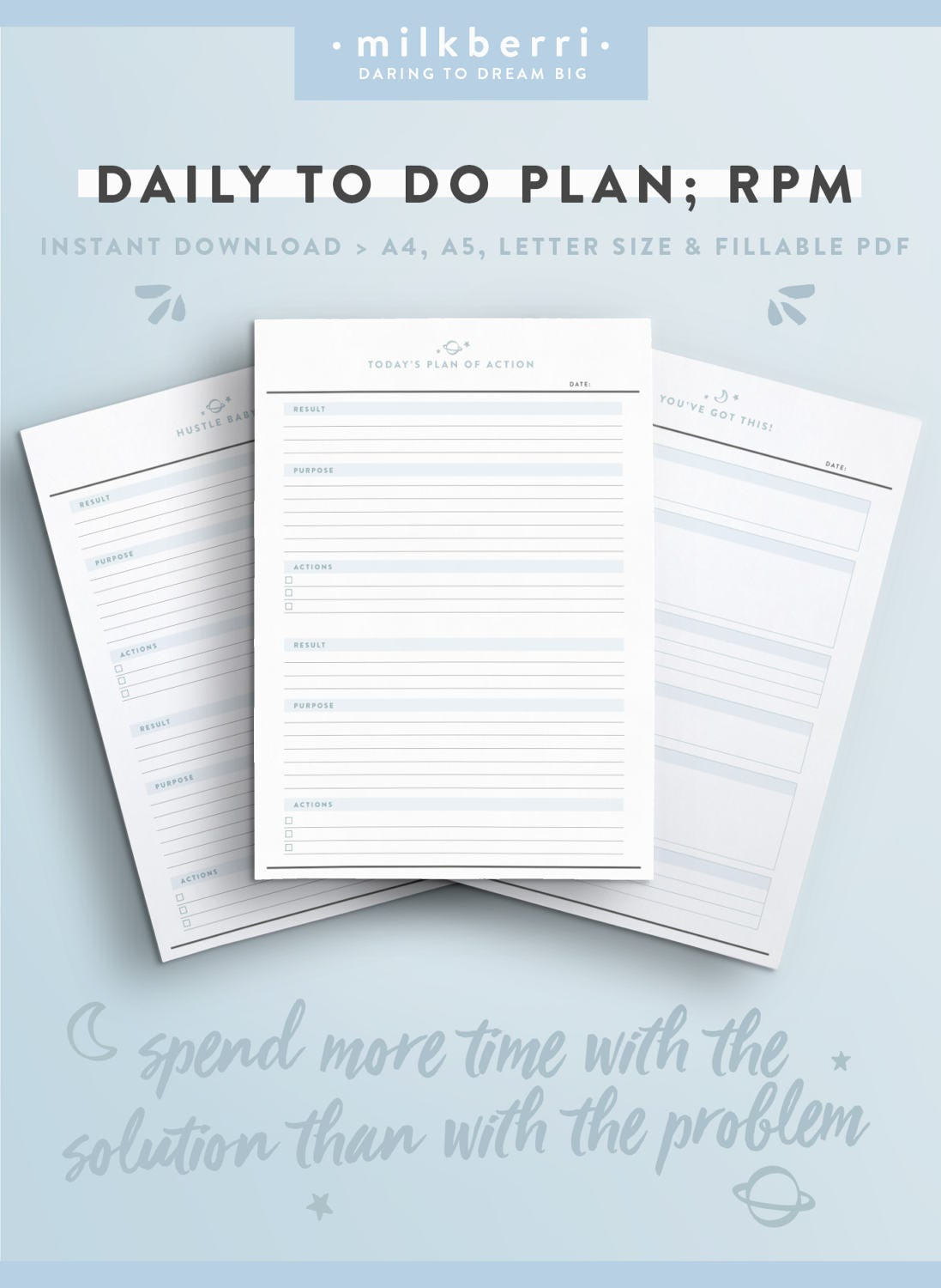 daily planner sheet rpm  results purpose action  tony