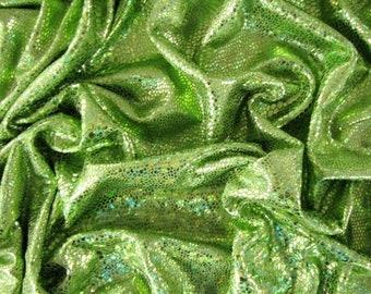 Folien Jersey Stretch mit Reptil Fasching Hologram Grün
