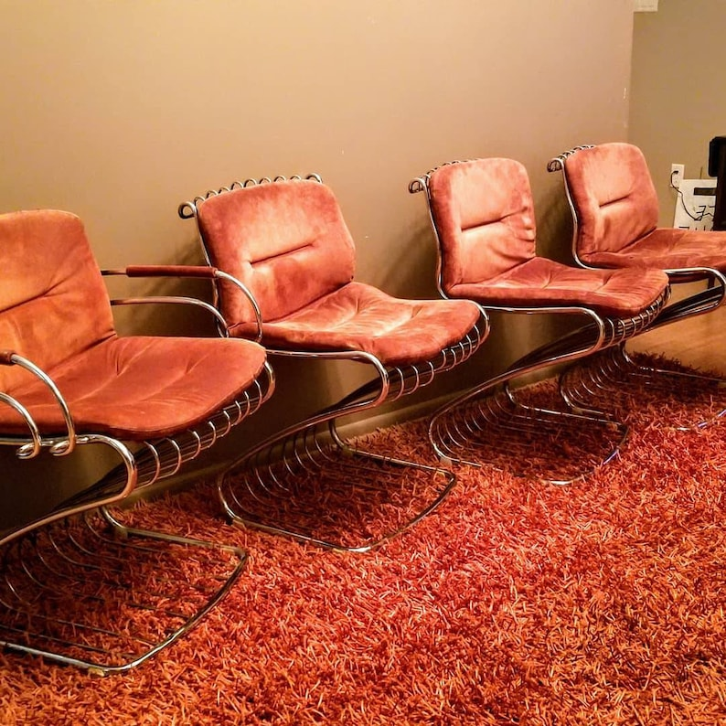 Mid Century Modern Italian Designer Chairs For Dining or image 0