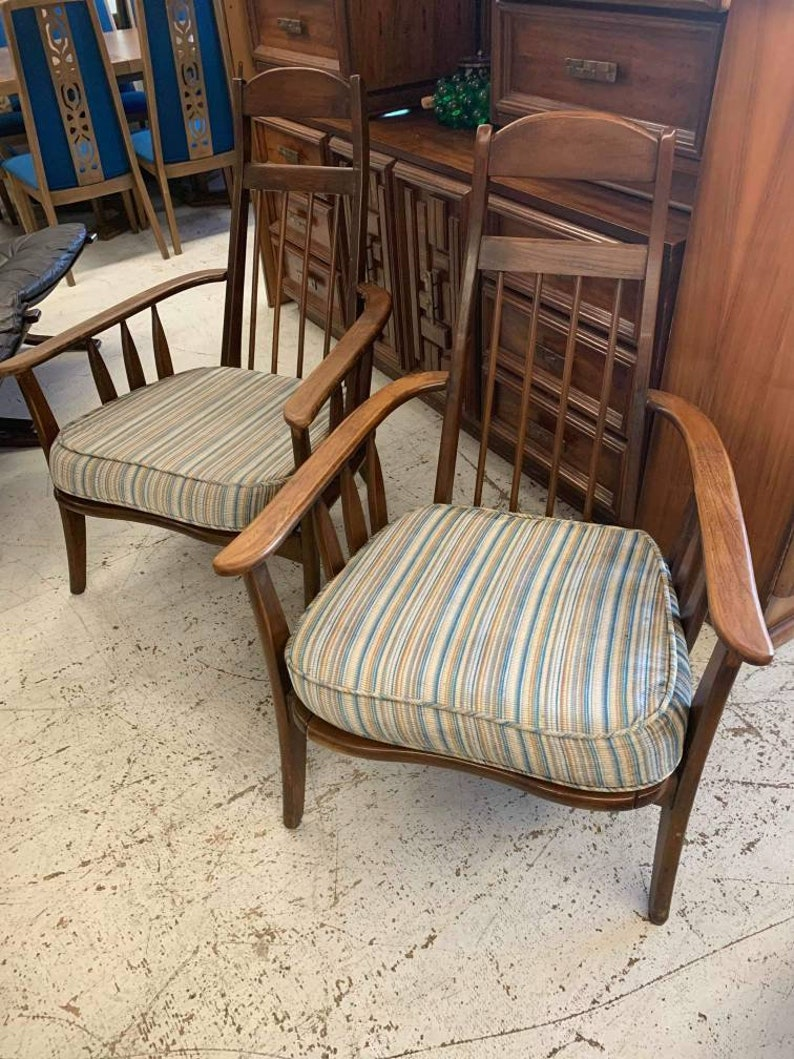 Mid Century Modern Chairs Wood Adrian Pearsall Vintage Circa image 0