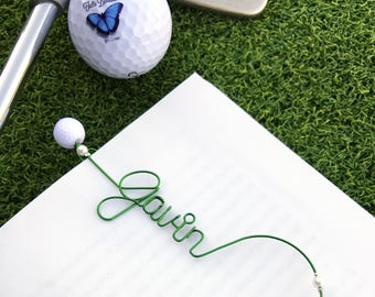 Valentine's Day Gift for Golfer Gift - Personalized Bookmarks - Gifts for Book Club Gifts for Bookworm Gifts - Personalized Golf Gift