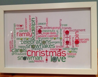 Christmas word frame