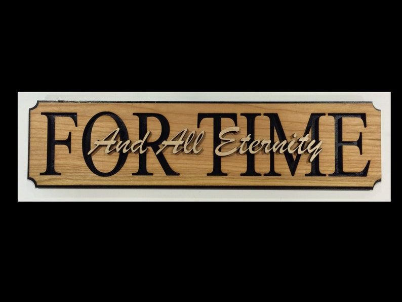 For Time and all Eternity Wall Hanging image 0