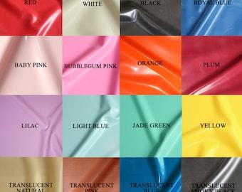 Sheet Latex/Rubber by Continuous Metre, Qtr or Half Metre - 1m Width, 0.25mm Gauge - Main Colours - UK SELLER