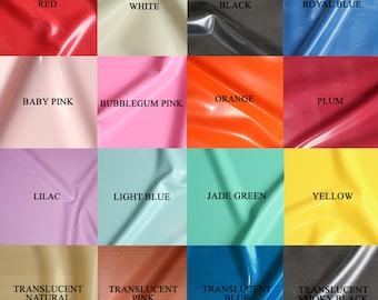 Sheet Latex/Rubber by Continuous Metre, Qtr or Half Metre - 1m Width, 0.40mm Gauge - Favourite Colours - UK SELLER