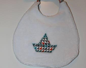 Bib boat origami