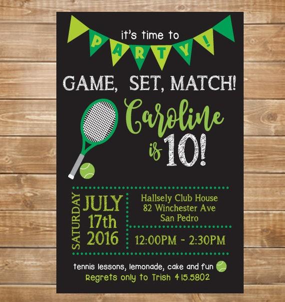 Tennis birthday party invitation tennis invite printable etsy image 0 filmwisefo