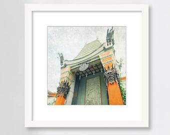 Grauman's Chinese Theatre, Hollywood, Los Angeles Print, LA Wall Art, California Art, Mann's, Movies, Cinema, Hollywood Boulevard