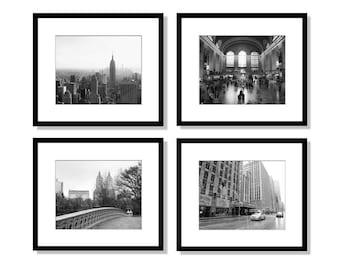 New York Gallery Wall Set Black And White Photography Nyc