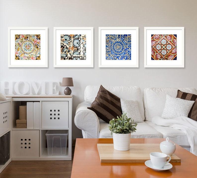 spanish tiles bathroom decor kitchen decor gallery wall art | etsy