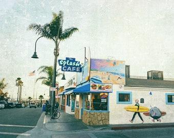 Pismo Beach, Splash Cafe, California Beach Photography, Beach Decor, Kitchen  Decor,