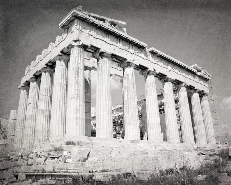 a1cc63a491ea4 Athens Parthenon Acropolis Ruins Greece Photography black