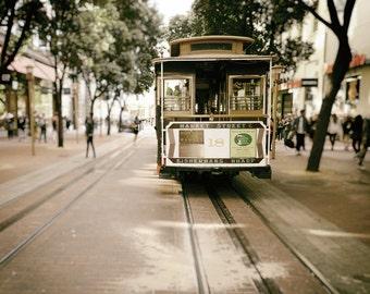 San Francisco Cable Car Photography, Black and White, Cable Car Photo, San Francisco Print, Streetcar, Fine Art Print, Home Decor