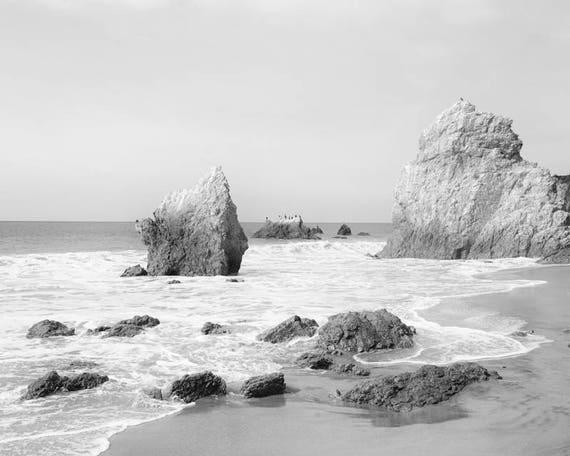 Black and white Photograph Sand Beach landscape Wall Art