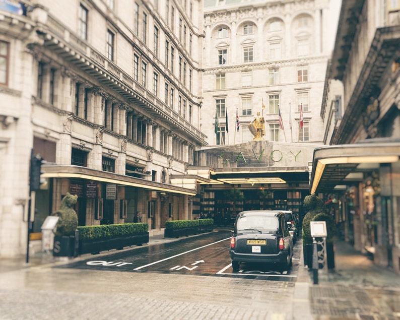 The Savoy Hotel London Photography Print Black Cab Travel image 0