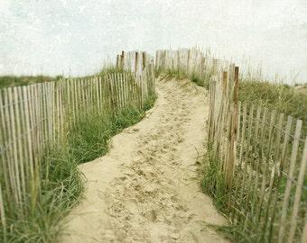 Beach Photography, Beach Decor, Landscape Photography, Summer, Dunes, Sand, Nature, Coastal Decor, Ocean, Fine Art Print, sea green, beige