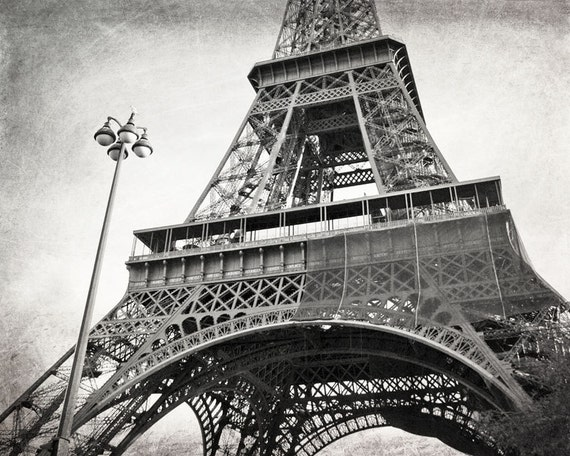 Eiffel Tower Black And White Paris Print Paris Photography Etsy