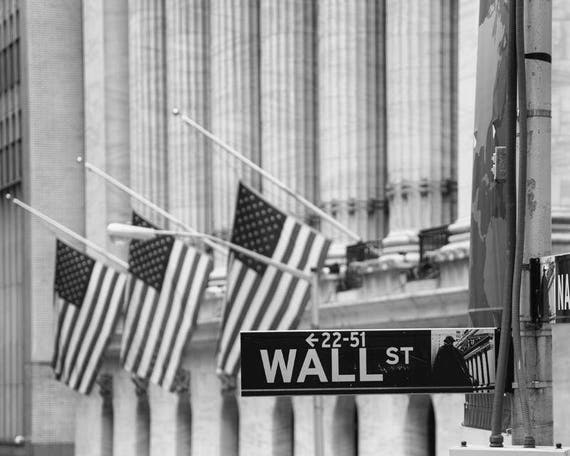 H New York Stock Exchange In Manhattan Art Print Home Decor Wall Art Poster