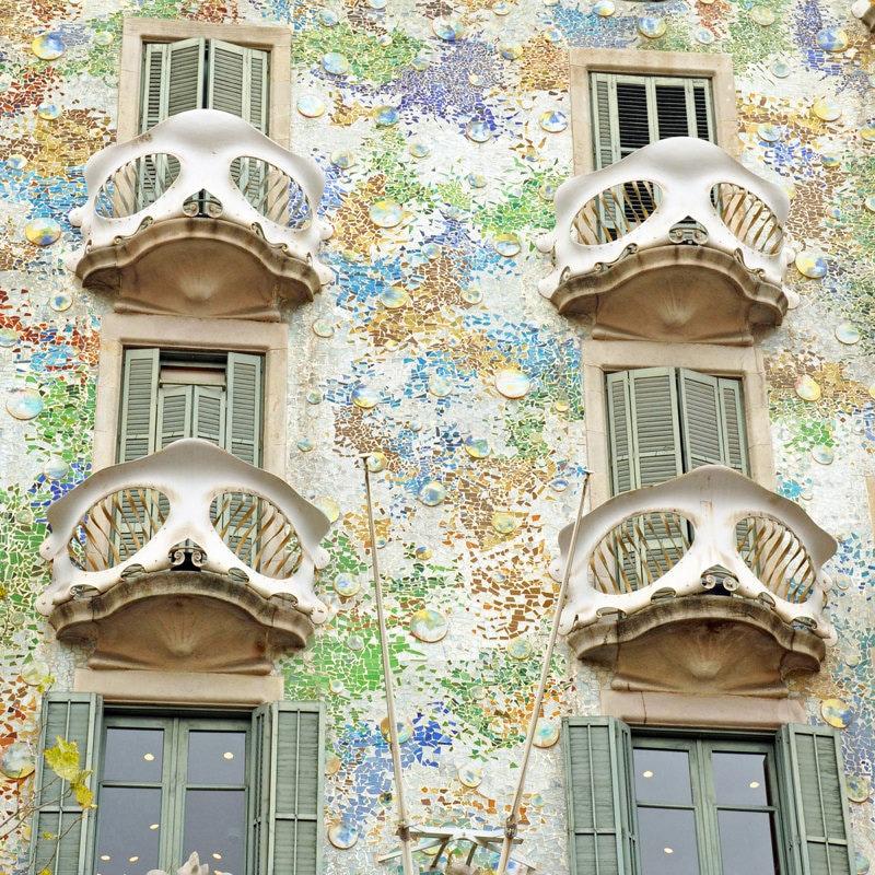 Barcelona Gaudi Casa Batllo Haus der Knochen Reise Dekor