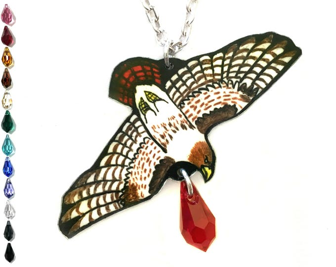Raptor Necklace Falconry Necklace Red-tailed Hawk Jewelry Red Tailed Hawk Necklace Gifts for Bird Watchers Hawk Necklace